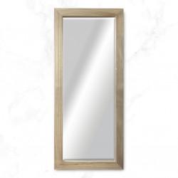 Espejo madera cruda blanco