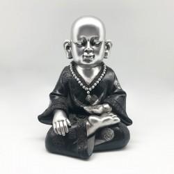Monje diseño silver meditando