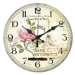 Reloj flores en Paris
