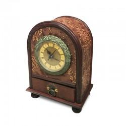 Reloj madera con cajón