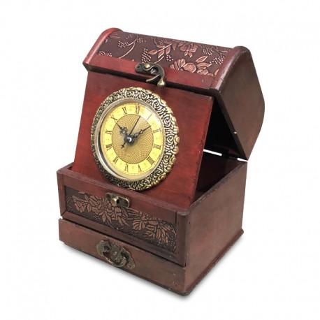 Reloj de madera plegable