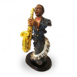Saxofonista afroamericano