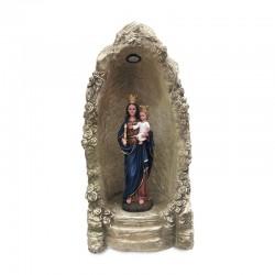 Gruta Virgen del Carmen con luz solar