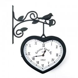 Reloj metálico corazón doble cara