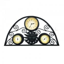 Reloj metálico diseño de sol