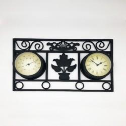 Reloj metálico diseño arreglo floral