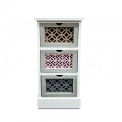 Cabinet de 3 cajones tallados y en colores