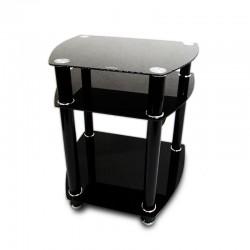 Mesa de TV de 3 niveles negra