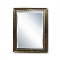 Espejo caoba con aplique silver