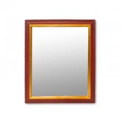 Espejo caoba con vidrio biselado