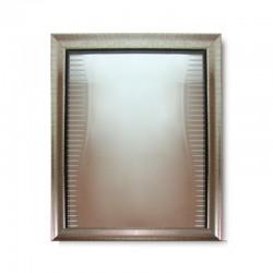 Espejo silver con vidrio biselado y con diseños